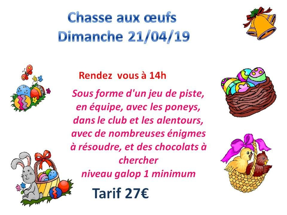 21 - 04 - 2019 Chasse aux oeufs