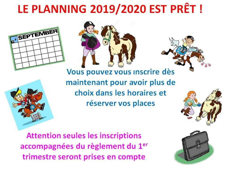 20 - 06 - 2019 Inscriptions 2019/2020
