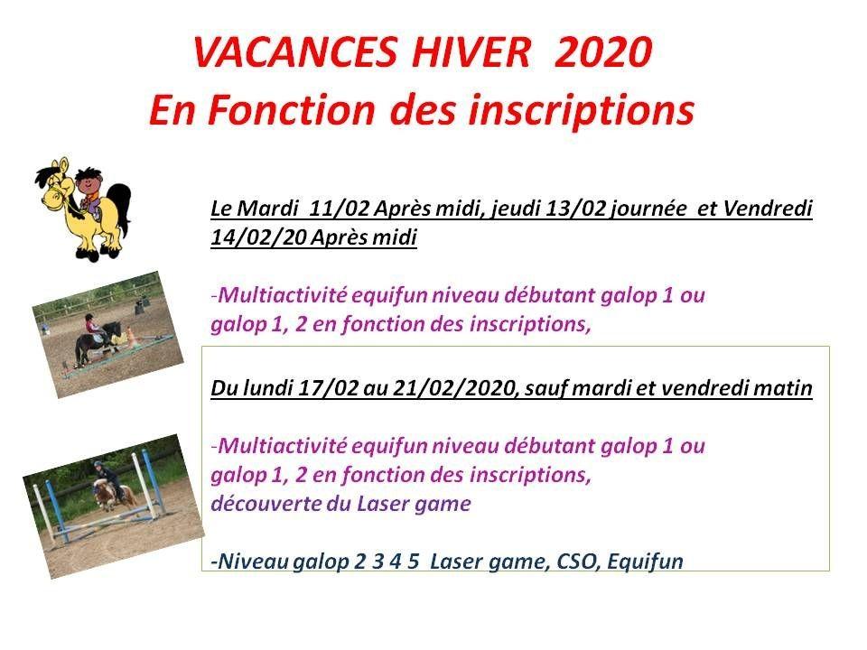 11 - 02 - 2020 stage vacances de Février