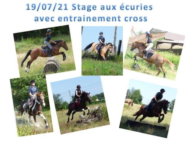 19 - 07 - 2021 Stage aux Ecuries avec entrainement CROSS